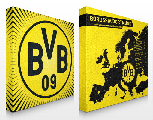 leinwand bild bilder borussia dortmund motivpaket 1 bvb fu ball verein fan ebay. Black Bedroom Furniture Sets. Home Design Ideas