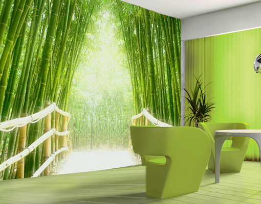 Photo-wall-mural-BAMBOO-WALK-400x280-Wallpaper-Art-Decor-Bridge-Asia-Forest