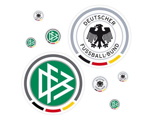 wandtattoo dfb logos sticker set 21x10 weltmeisterschaft fu ball fan sticker wm ebay. Black Bedroom Furniture Sets. Home Design Ideas