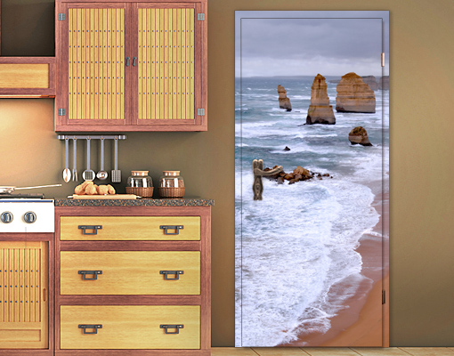 fototapete tuer selbstklebend die 12 apostel tapete australien wasser meer ebay. Black Bedroom Furniture Sets. Home Design Ideas