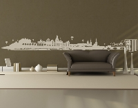 WandTattoo No.FB93 Dresden Skyline XXL