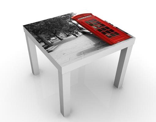 design tisch telephone beistell couch motiv wohnzimmer telefonzelle anrufen rot ebay. Black Bedroom Furniture Sets. Home Design Ideas