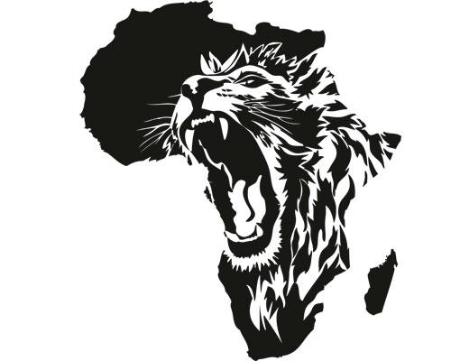 wandtattoo no cg135 das herz von afrika l we wildnis savanne w ste ebay. Black Bedroom Furniture Sets. Home Design Ideas