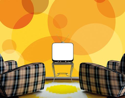 vlies fototapete caribbean lounge tapete abstrakt kreise. Black Bedroom Furniture Sets. Home Design Ideas