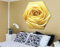 LeinwandBild Sechseck Lovely Yellow Rose