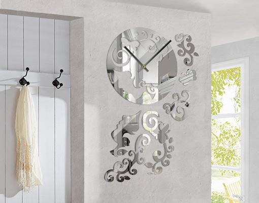 Design wanduhr top 6 wandtattoo uhrwerk zeit junghans for Designer wanduhren wohnzimmer