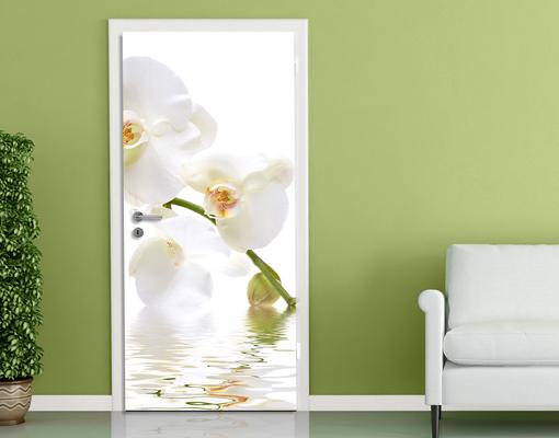 fototapete t r orchid waters 100x210 foto tapeten blumen orchidee orchideen ebay. Black Bedroom Furniture Sets. Home Design Ideas