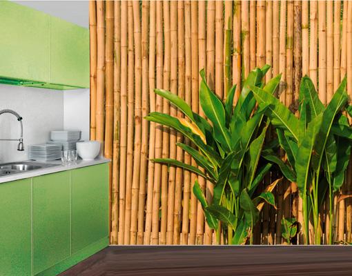 Photo wall mural wall of bamboo 400x280 wall decor for Bamboo mural walls