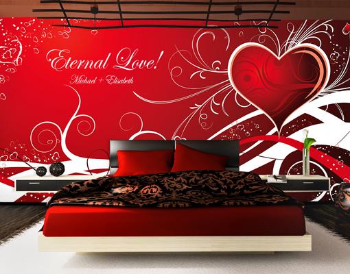 fototapete wunschtext no 7 tapete liebe romantik herzen ornamente schn rkel ebay. Black Bedroom Furniture Sets. Home Design Ideas