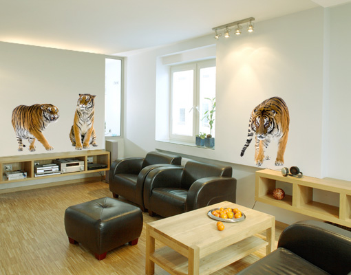WandTattoo-Tiger-Set-I-133x73-Wandsticker-Tier-Savanne-Afrika-Katzen