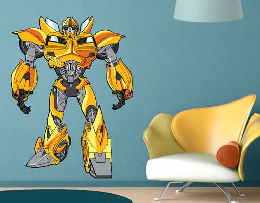 wandtattoo transformers bumblebee steht wandsticker wanddesign wandvorlage ebay. Black Bedroom Furniture Sets. Home Design Ideas