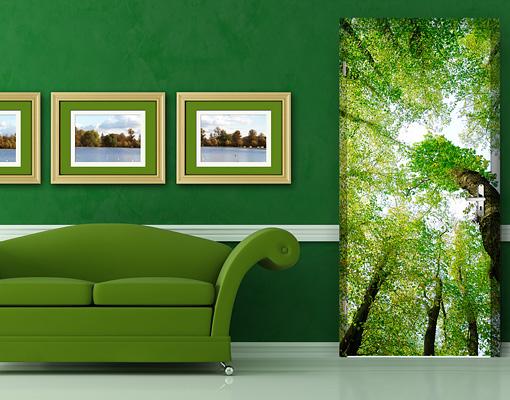 fototapete tuer selbstklebend baeume des lebens foto tapeten gruen blaetter wald ebay. Black Bedroom Furniture Sets. Home Design Ideas