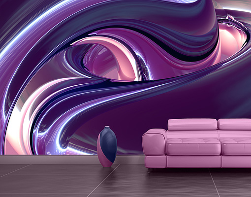 Purple Wall Decor 28+ [ Purple Wall Mural ] | Magnolia Trees Purple Mural  Photo