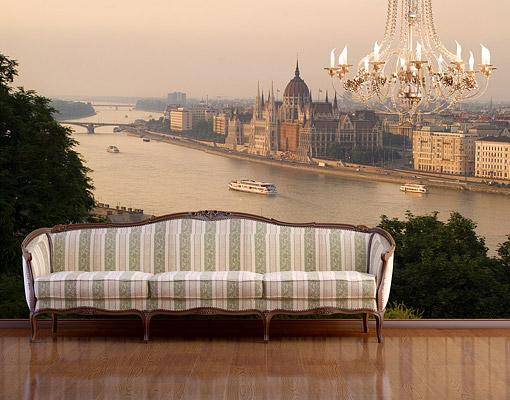 fototapete budapest skyline tapete ungarn hauptstadt donau. Black Bedroom Furniture Sets. Home Design Ideas