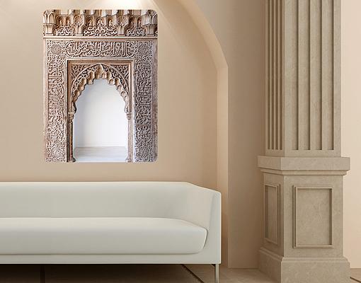 Wandbild alhambra bauwerke orientalisch tore steine eingang ebay - Wandbild orientalisch ...