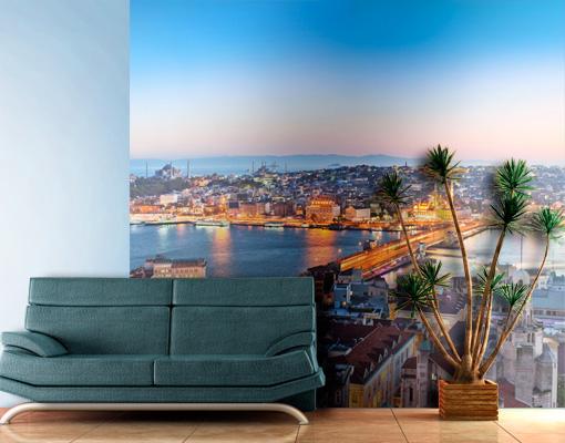 fototapete istanbul tapete t rkei stadt asien basar bosperus ebay. Black Bedroom Furniture Sets. Home Design Ideas