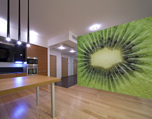 vlies fototapete try me tapete kiwi citrus fr chte gr n k che ebay. Black Bedroom Furniture Sets. Home Design Ideas