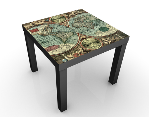 World Map Coffee Table Antique Style Coffee Table With World Map