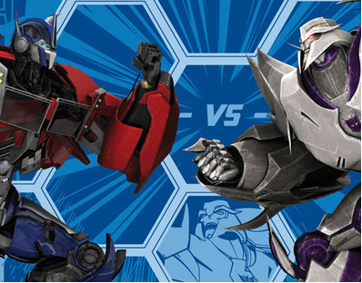 Vlies fototapete transformers optimus prime und megatron foto tapeten junge ebay - Transformers tapete ...