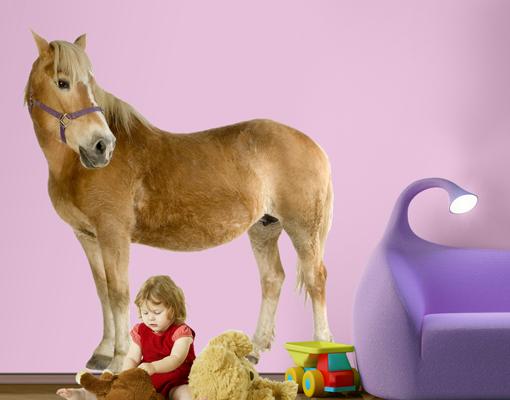 wandtattoo haflinger 88x100 wandsticker kinderzimmer pferd. Black Bedroom Furniture Sets. Home Design Ideas