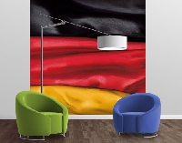 Vlies FotoTapete Deutschlandfahne geschwungen