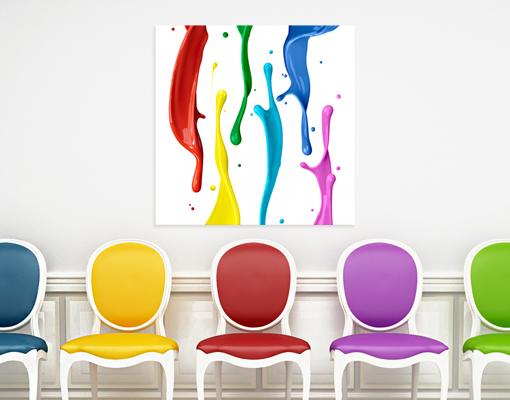 leinwandbild farbspritzer liquid wasser bunt farbklecks regenbogen ebay. Black Bedroom Furniture Sets. Home Design Ideas
