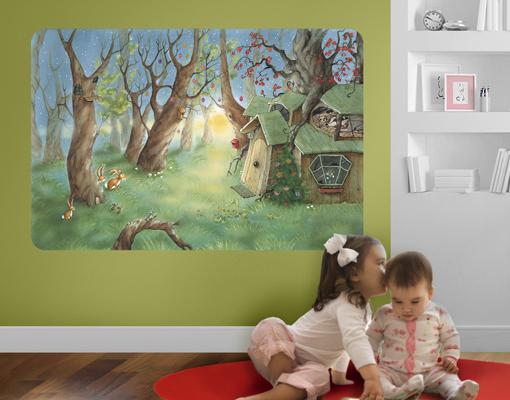 wandbild wassili und sibelius schlafen arena verlag kinderzimmer dachs wald ebay. Black Bedroom Furniture Sets. Home Design Ideas