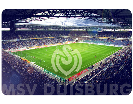 wandbild msv duisburg strahlendes stadion die zebras fu ballverein fussball vereinslogo. Black Bedroom Furniture Sets. Home Design Ideas