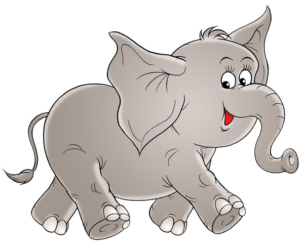 Wandsticker fr hlicher elefant afrika kind comic tier ebay - Wandsticker elefant ...