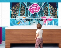 FliesenBild My little Pony - Bibliothek