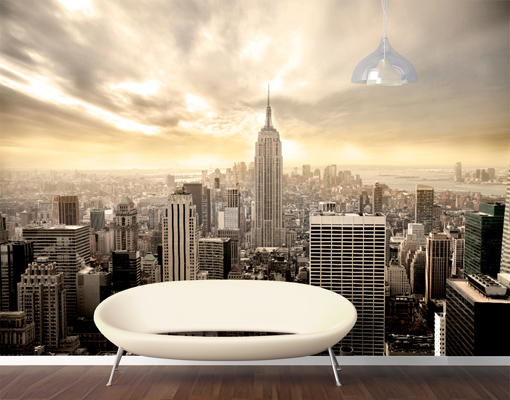 photo wall mural shining manhattan 400x280 wallpaper new. Black Bedroom Furniture Sets. Home Design Ideas