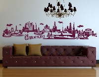 WandTattoo No.JR43 Moskau russisch Skyline