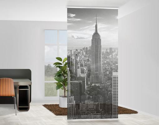design raumteiler manhattan skyline schiebe vorhang gardine fl chenvorhang usa ebay. Black Bedroom Furniture Sets. Home Design Ideas