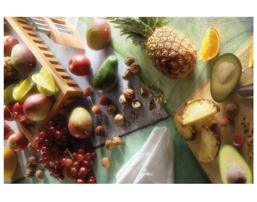 vlies fototapete wellness foto tapeten vliestapete k che obst gem se avocado ananas. Black Bedroom Furniture Sets. Home Design Ideas