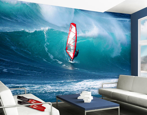 photo wall mural the surfer wallpaper wall art wall decor crystal waves surf wall mural and removable sticker