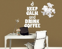 WandTattoo No.EV86 Keep Calm And Drink Coffee