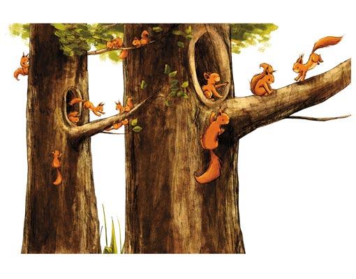 Tapeten Kinderzimmer Vlies : Vlies FotoTapete Zuhause der Eichhörnchen Foto Tapeten, Vliestapete