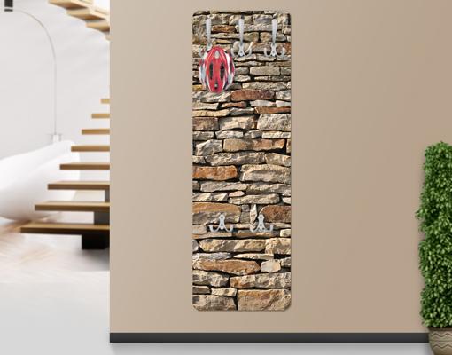 Steine An Wand Malen : Wand SteineMDF Holz American Stonewall Wand Haken Flur Diele