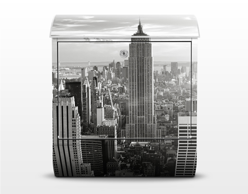 design briefkasten manhattan skyline 39x46x13 briefkasten. Black Bedroom Furniture Sets. Home Design Ideas