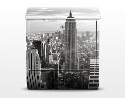 design briefkasten manhattan skyline 39x46x13 briefkasten. Black Bedroom Furniture Sets. Home Design Ideas