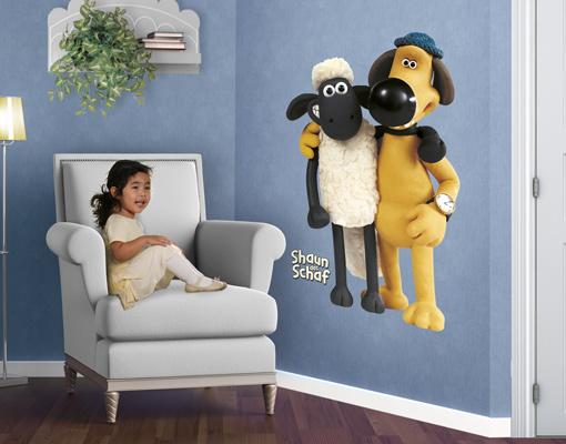Wandtattoo Shaun Das Schaf Shaun Und Bitzer Kinderzimmer