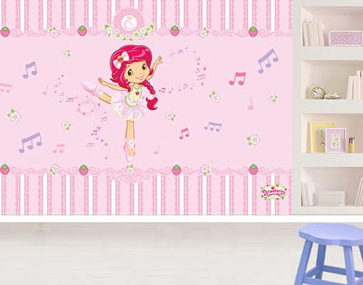 vlies fototapete strawberry shortcake tanzprinzessin brand motivtapete wanddesign. Black Bedroom Furniture Sets. Home Design Ideas