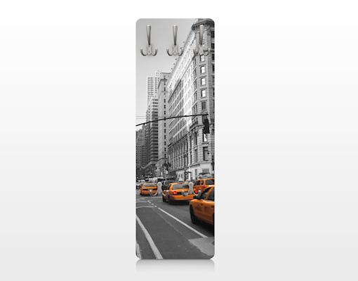 Design garderobe mdf holz new york new york wand haken for Garderobe new york
