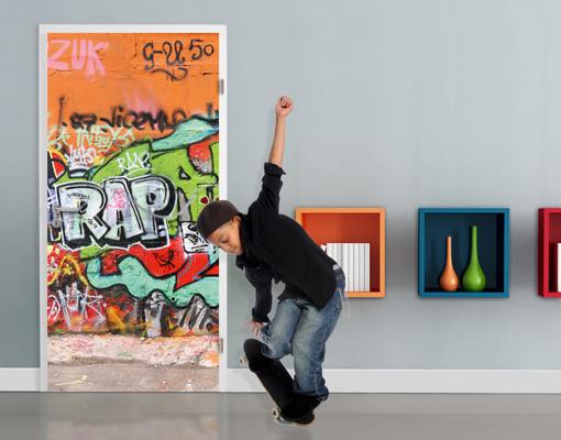 Poster per porte con colla graffiti wall 100x210 - Poster giganti per camere da letto ...