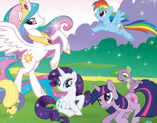 photo wall mural my little pony 400x280 wallpaper children my little pony wall stickers pvc mural diy backdrop