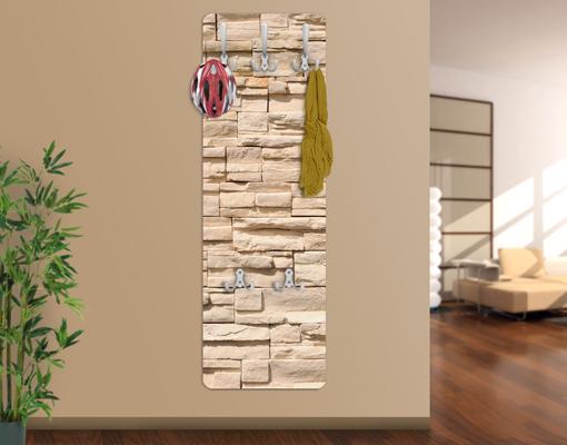Design garderobe mdf holz wall of ashlar wand haken flur for Garderobe umbra