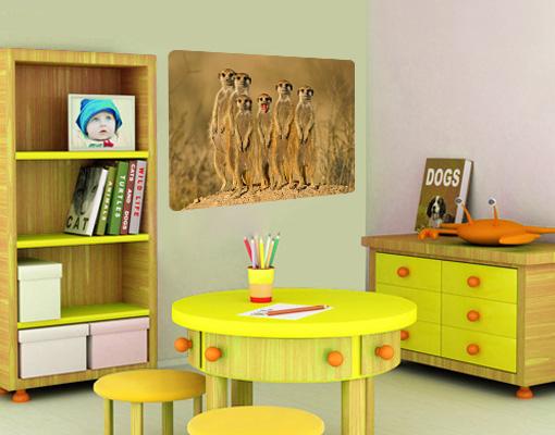 Wandbild erdm nnchen familie meerkatzen nagetiere afrika - Wandbild familie ...