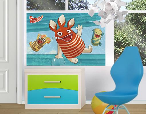 window mural sorgenfresser biff ed and gump window. Black Bedroom Furniture Sets. Home Design Ideas