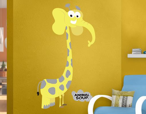 Wandtattoo animal soup girafant kinderzimmer tier elefant for Kinderzimmer zoo