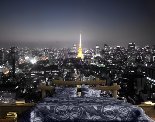 vlies fototapete tokio tapete japan stadt wolkenkratzer. Black Bedroom Furniture Sets. Home Design Ideas